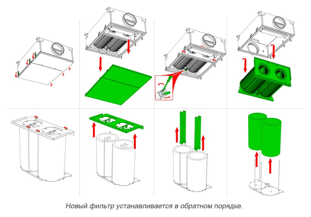 Как поменять фотокаталитический фильтр